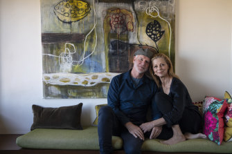 """Martin McGrath and Heather Mitchell: """"He said to me, 'I want to be your guardian angel'."""""""
